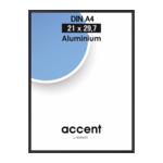 Nielsen Accent 21x29,7 aluminium zwart DIN A4 52126