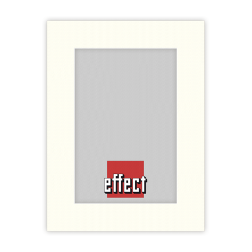 Afbeelding van 1x5 Effect Passepartout Ivory formaat 30x40 uitsnede 20x30