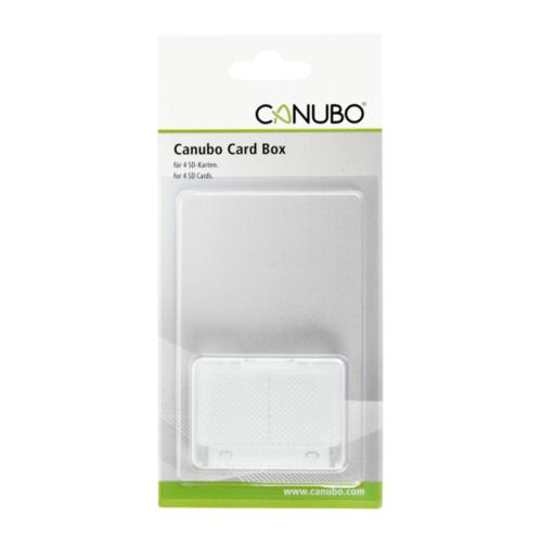 Afbeelding van Canubo SD Card Box transparant voor 4 kaarten
