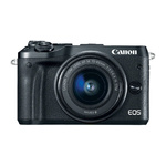 Canon EOS M6 Kit zwart + EF-M 3,5-6,3/15-45 IS STM
