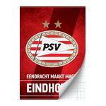 PSV Stripe schrift A4 geruit