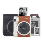 Fujifilm Instax mini 90 bruin Retro Set met film en tas