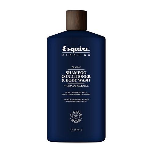 Afbeelding van Esquire Grooming 3 in 1 shampoo conditioner & body wash 414 ml